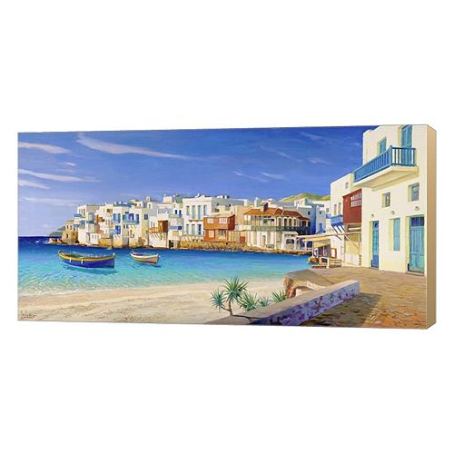 Metaverse Art Mykonos Canvas Wall Art