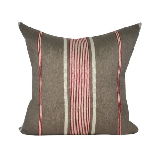 Loom and Mill Charcoal Stripes Throw Pillow
