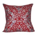 Loom and Mill Scrolling Damask Throw Pillow