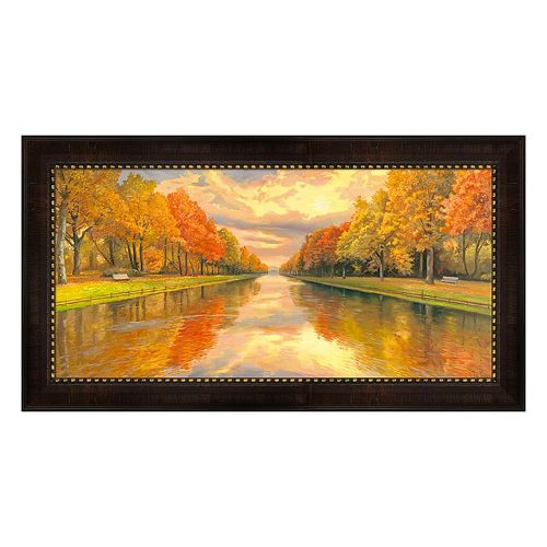 Metaverse Art Boulevard Sull Acqua Framed Canvas Wall Art