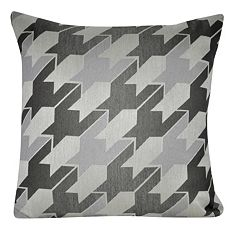 Loom and Mill Jacquard Houndstooth Throw Pillow