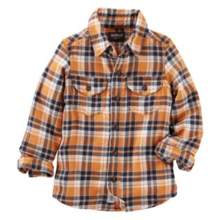 Boys 4-8 OshKosh B'gosh® Two-Pocket Plaid Button-Down Shirt
