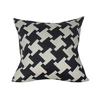 Loom and Mill Modern Houndstooth Throw Pillow