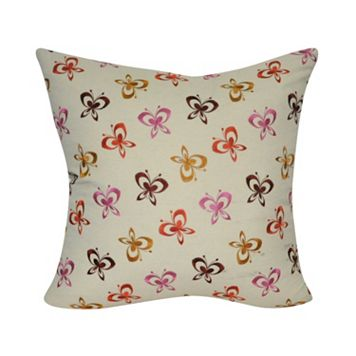 Loom and Mill Multi Butterfly Throw Pillow