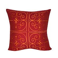 Loom and Mill Red Damask Throw Pillow