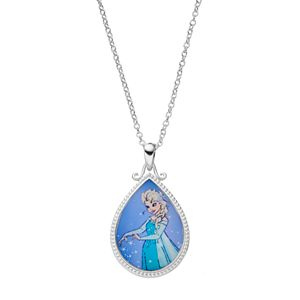 Disney's Frozen Kids' Silver-Plated Elsa Teardrop Pendant