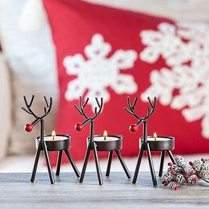 San Miguel Christmas Reindeer Votive Candle Holder 3-piece Set