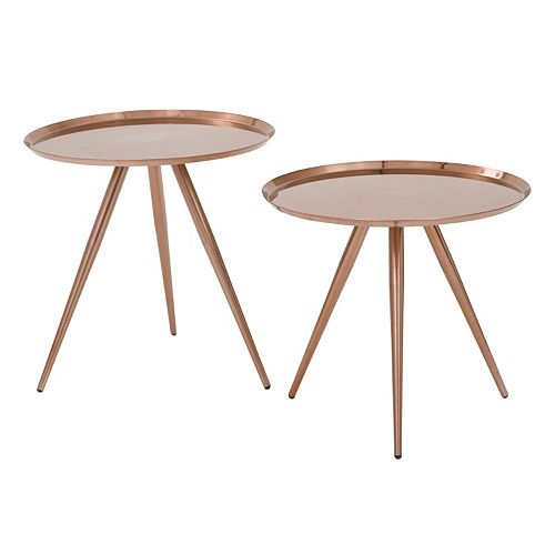 OSP Designs Tiffany End Table 2-piece Set
