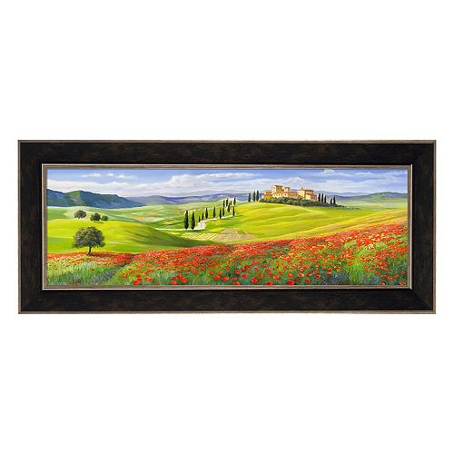 Metaverse Art Verso Il Borgo In Toscana Framed Canvas Wall Art