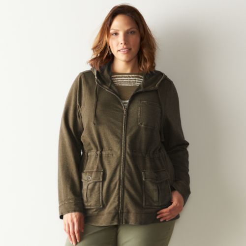 Plus Size SONOMA Goods for Life™ French Terry Utility Jacket