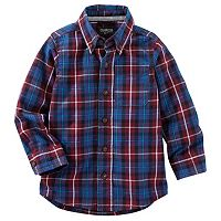 Boys 4-8 OshKosh B'gosh® Plaid Button-Down Long Sleeve Shirt