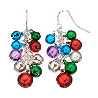Jingle Bell Cluster Drop Earrings