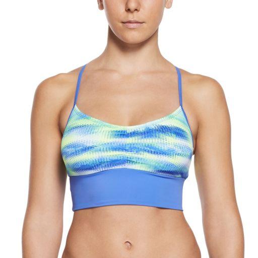Women's Nike Gleam Abstract Crop Bikini Top