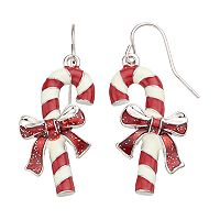 Candy Cane Drop Earrings