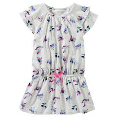 Girls 4-8 OshKosh B'gosh® Printed Short Sleeve Ruffle Tunic