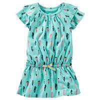 Girls 4-8 OshKosh B'gosh® Printed Short Sleeve Ruffle Tunic
