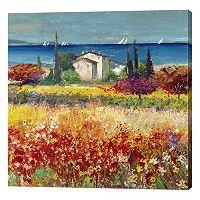 Metaverse Art Sogno Mediterraneo Canvas Wall Art