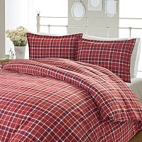 Laura Ashley Lifestyles Highland Check Flannel Comforter Set