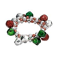 Jingle Bell & Bead Stretch Bracelet Set