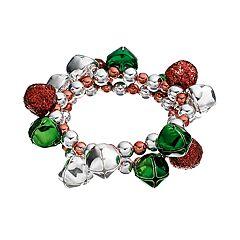 Jingle Bell & Bead Stretch Bracelet Set