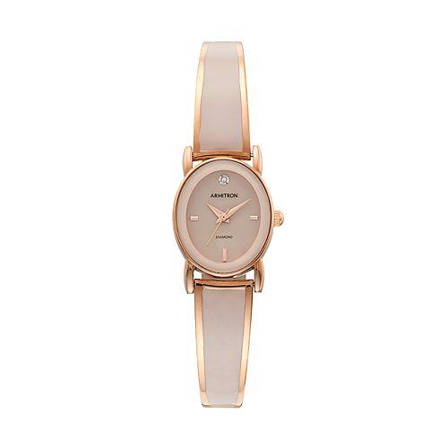 Armitron Women's Diamond Half Bangle Watch - 75/5423BHRG