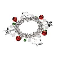 Jingle Bell, Star & Bead Stretch Bracelet