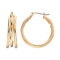 Napier Triple Hoop Earrings