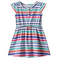 Toddler Girl Jumping Beans® Cap Sleeve Patterned Henley Dress