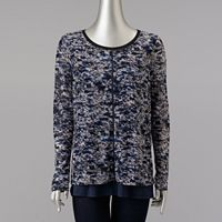 Women's Simply Vera Vera Wang Print Popover Top