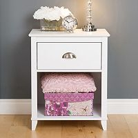 Prepac Yaletown 1-Drawer Tall White Nightstand