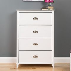 Prepac Yaletown 4-Drawer White Dresser