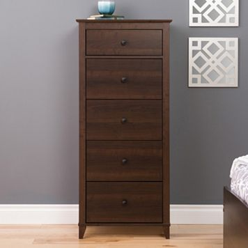 Prepac Yaletown 5-Drawer Tall Espresso Dresser