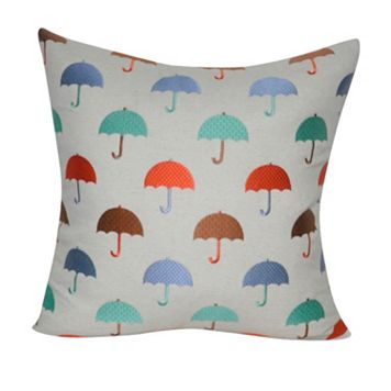 Loom and Mill Umbrellas Throw Pillow