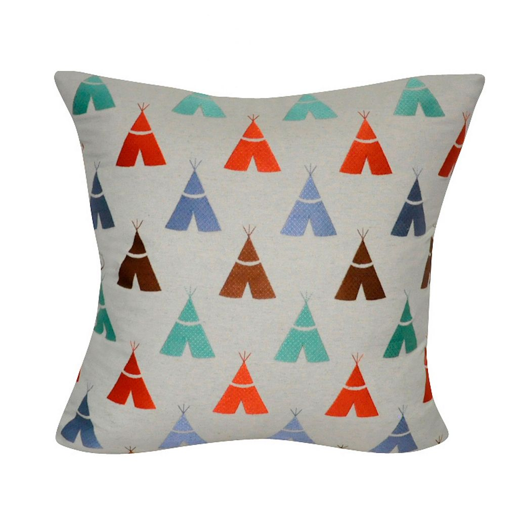 Loom and Mill Teepees Throw Pillow