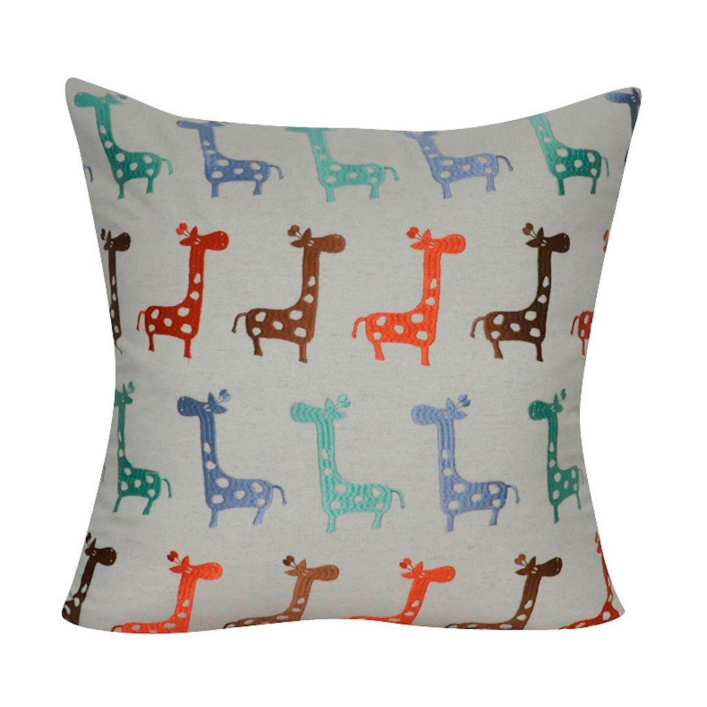 Loom and Mill Giraffes Throw Pillow