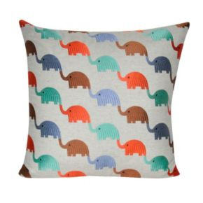 Loom and Mill Elephants Throw Pillow