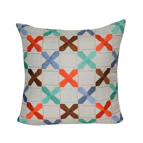 Loom and Mill Tic-Tac-Toe Throw Pillow