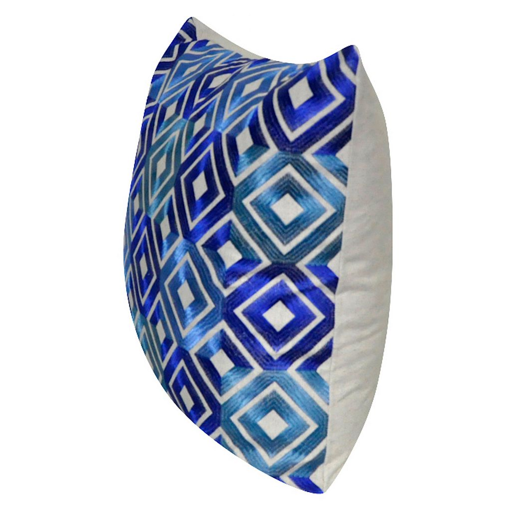 Loom and Mill Bright Diamond Geometric Throw Pillow