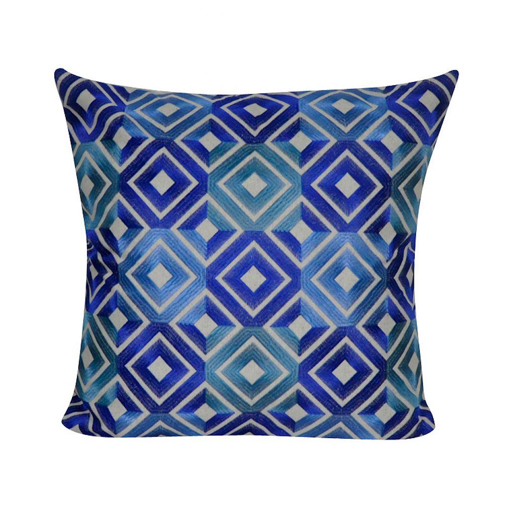 Loom and Mill Bright Diamond Geometric Throw Pillow