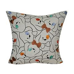 Loom and Mill Bowtie Dog Throw Pillow