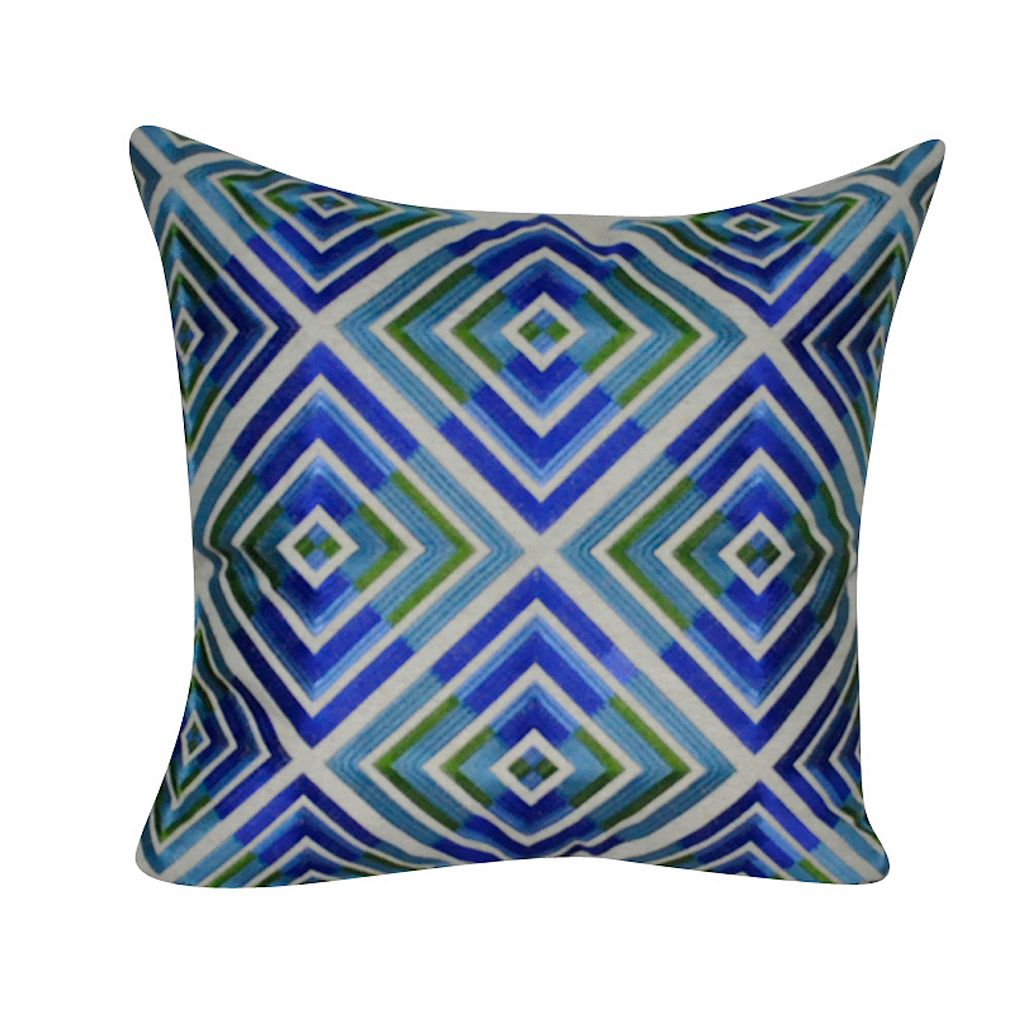 Loom and Mill Blue Geometric Throw Pillow
