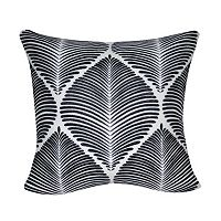 Loom and Mill Black Leaf Throw Pillow
