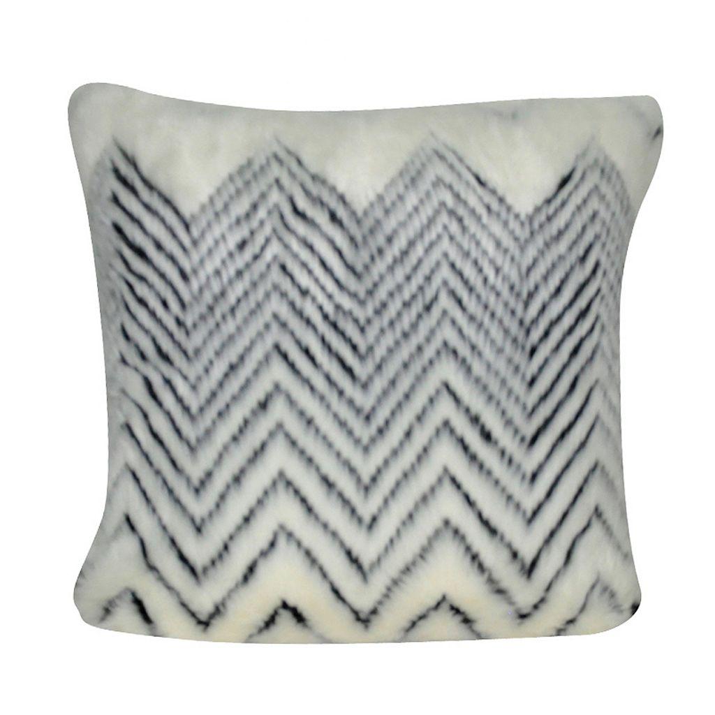 Loom and Mill Chevron Faux Fur II Throw Pillow