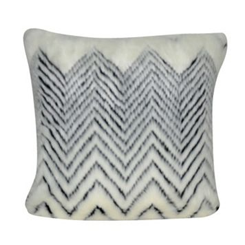 Loom and Mill Chevron Faux Fur II Throw Pillow