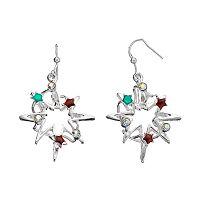 Christmas Cosmic Star Drop Earrings