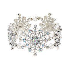 Snowflake Stretch Bracelet