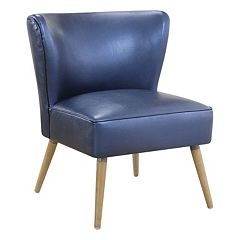 Ave Six Amity Metallic Finish Side Chair