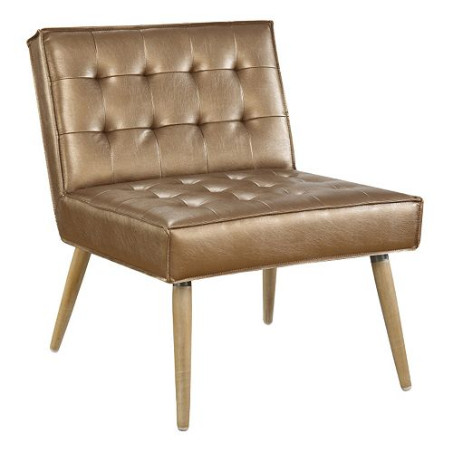 Ave Six Amity Metallic Finish Tufted Accent Chair