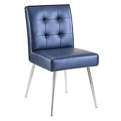 Ave Six Amity Metallic Finish Tufted Dining Chair