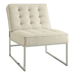 Ave Six Anthony Tufted Faux-Leather Chair